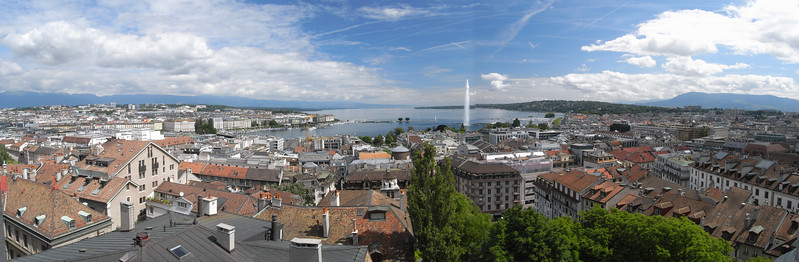 Panorama of Geneva from the cathedral tower