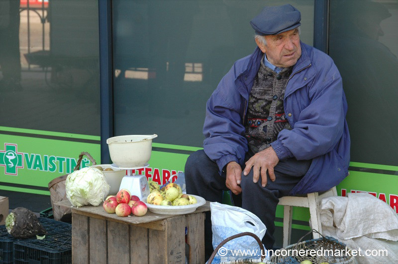 Apple Vendor, Hales Market - Vilnius, Lithuania