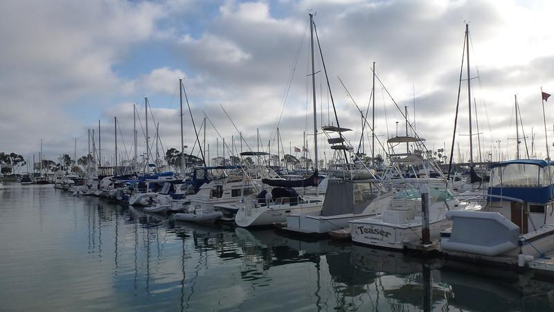 The ships in Dana Point Harbor