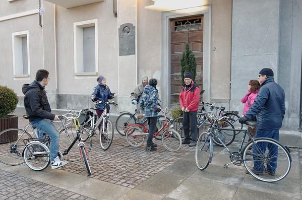 Salvaiciclisti del pinerolese con il Comune di Pinerolo in giro per la città