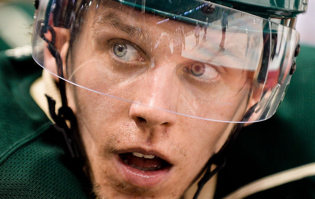 . Minnesota Wild left wing Erik Haula during the third period. (Pioneer Press: Ben Garvin)