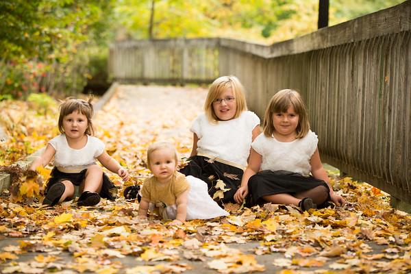Plainwell Park Fall Family Portrait Hux