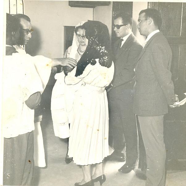 Baptizado de Célia Fernandes Maria Cecilia e o marido Campos Reis, Luciano Fernandes e a Rosinha sua esposa,