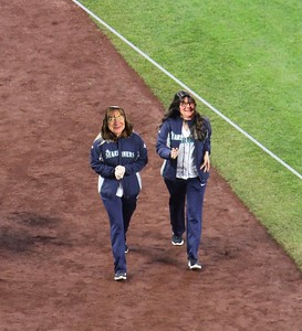 Evie and Joan also watch the M's