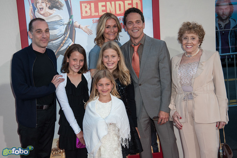 HOLLYWOOD, CA - MAY 21: Writer Ivan Menchell (C) and family arrive at the Los Angeles premiere of 'Blended' at TCL Chinese Theatre on Wednesday May 21, 2014 in Hollywood, California. (Photo by Tom Sorensen/Moovieboy Pictures)