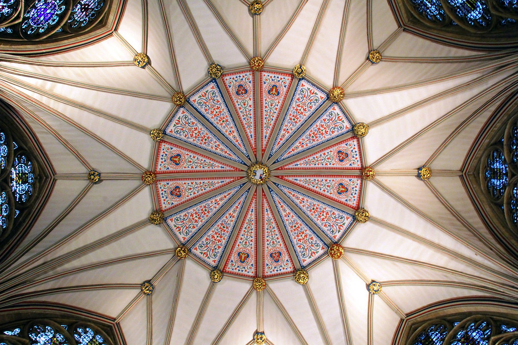 . The ceiling of the Chapter House at York Minster (Photograph by Dennis Lennox)