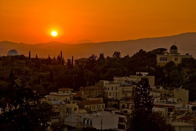 Sunset from the Parthenon - Athens