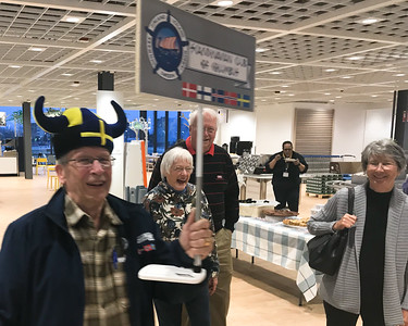 April 5, 2019. Columbus' IKEA has a nice Easter Dinner;  Scandinavian Club & Paula and I are there.