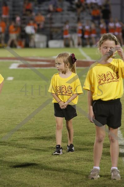 Little Cheerleaders and dance Monroe game