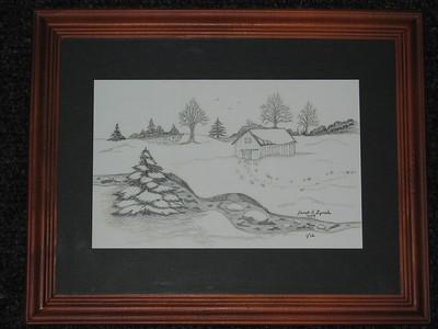 Janet Lynch - Framed Pencil Drawing Prints