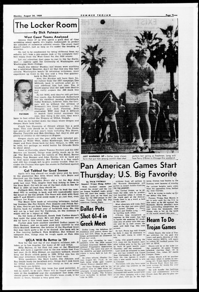 Summer Trojan, Vol. 9, No. 16, August 24, 1959