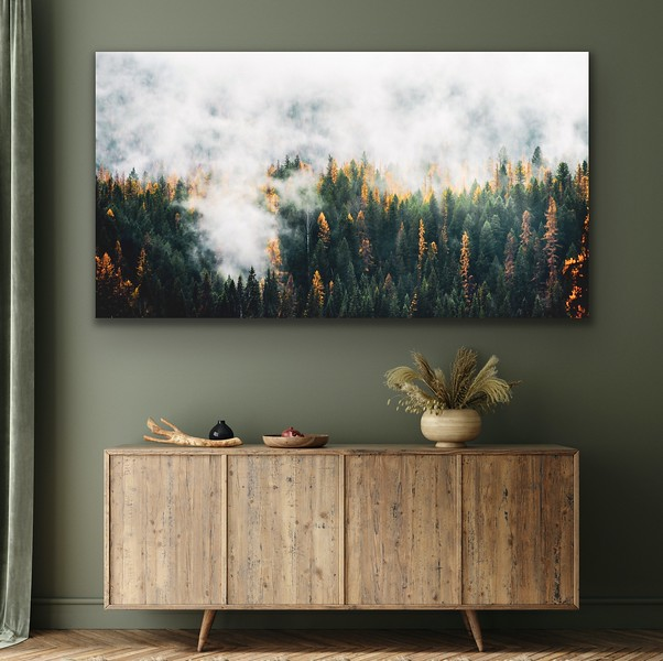 'Fog & Forest' Canvas Wrap or Float Mount Metal Print