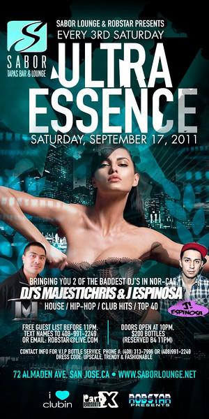 Ultra Essence @ Sabor Tapas Bar & Lounge 9.17.11