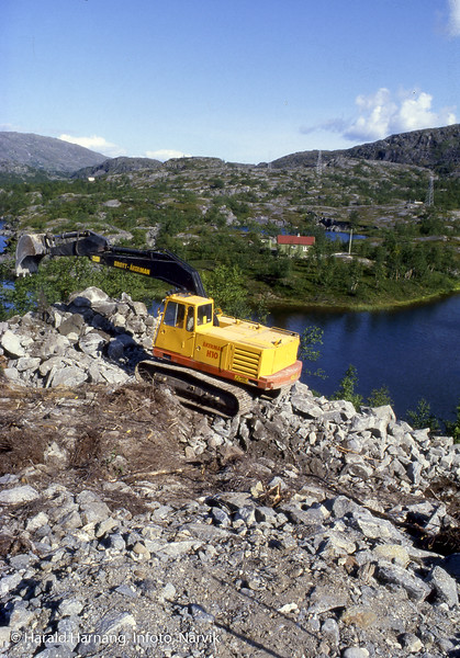 Bygging av jernbanetrase og bruer som skal erstatte Norddalsbrua. Bilder i oppdrag for Eeg Henriksen som hadde entreprisen.