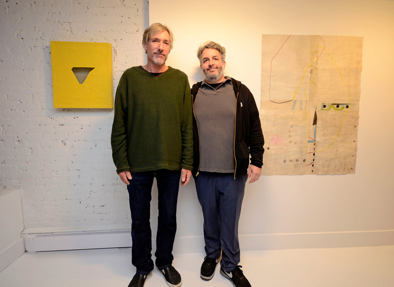 "EAST VILLAGE, NEW YORK - DECEMBER 9: ""RAW INTUITION"" opening featuring artists Mason Saltarrelli and Chuck Manion at the TURN Gallery on December 9, 2015 in East Village, New York. (Photo by Lukas Maverick Greyson)"