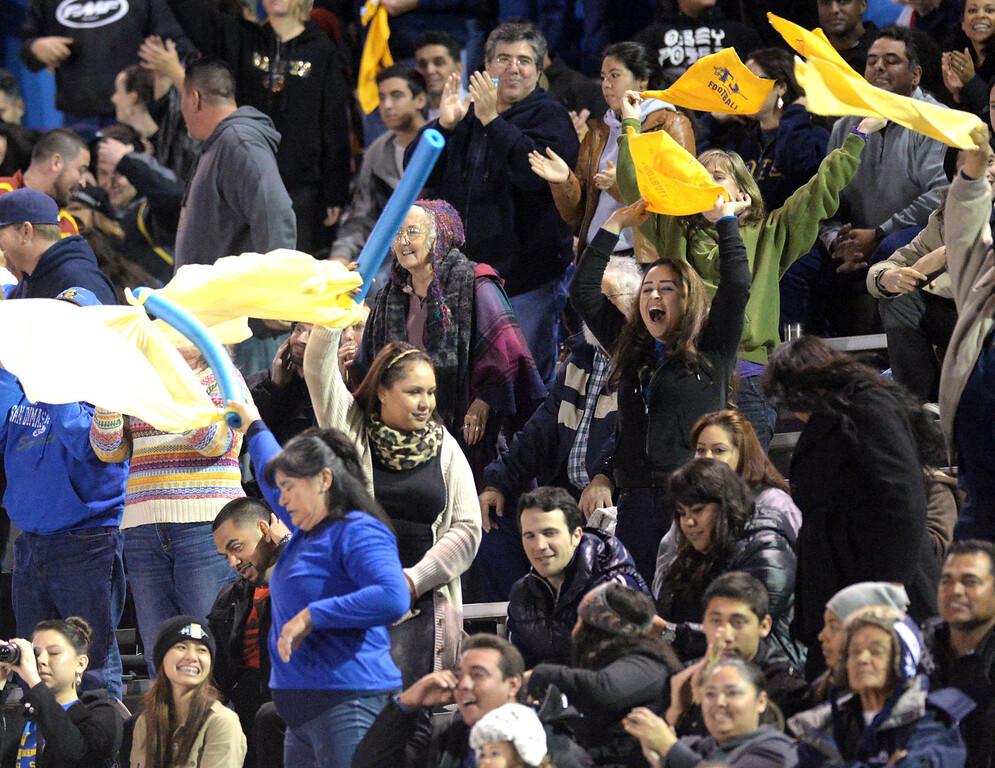 . Arroyo plays San Dimas in their CIF Semi-Final football game at Arroyo High School in El Monte on Friday November 29, 2013. San Dimas defeated Arroyo 61-28. (San Gabriel Valley Tribune/Staff Photo by Keith Durflinger)