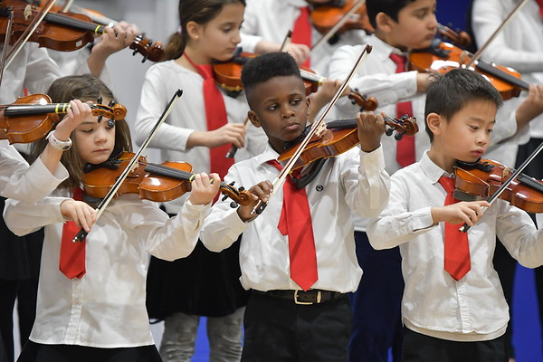 Suzuki Strings Showcase at All-School Assembly