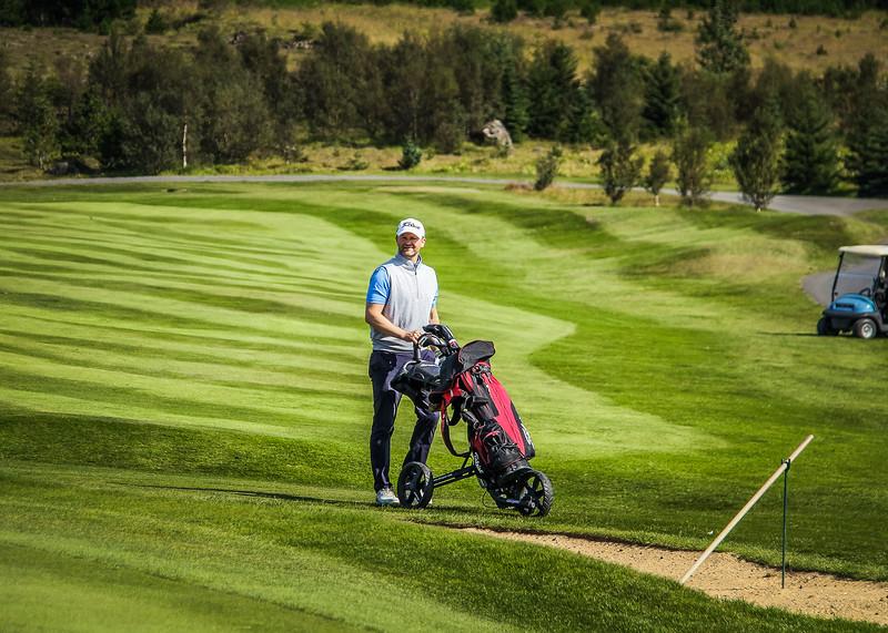 Guðjón Karl Þórisson.  Íslandsmót golf 2019 Grafarholt - 1. keppnisdagur. Mynd: seth@golf.is