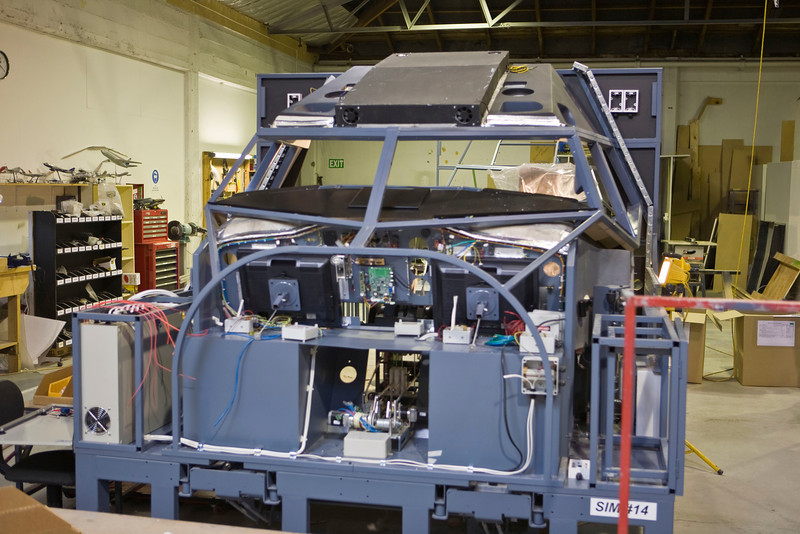 B-737 simulator under construction.