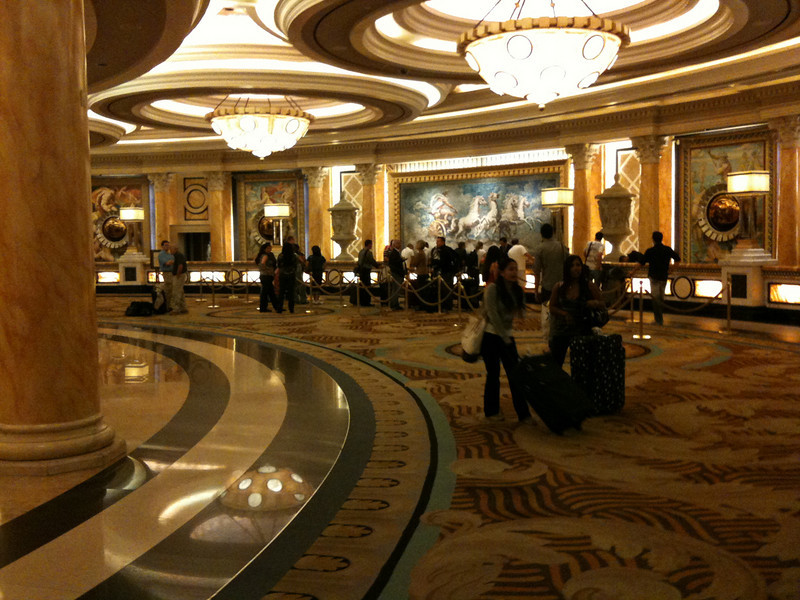 One of the lobbies in Caesars Palace.