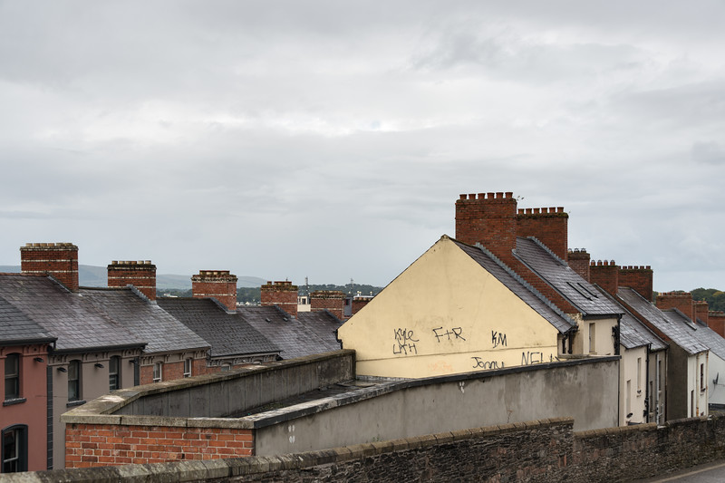 Roofs - Derry, Northern Ireland, UK - August 17, 2017