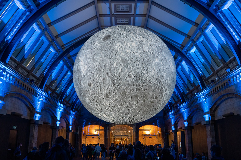 The Moon at the Natural History Museum in London