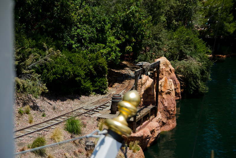 Rivers Of America Loading Dock From The Mark Twain Riverboat Wheelhouse