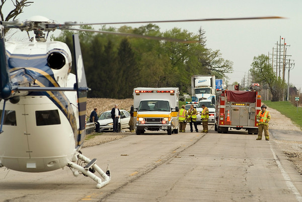 Pingree Grove May 9, 2008 - Single vehicle crash on Rt. 47