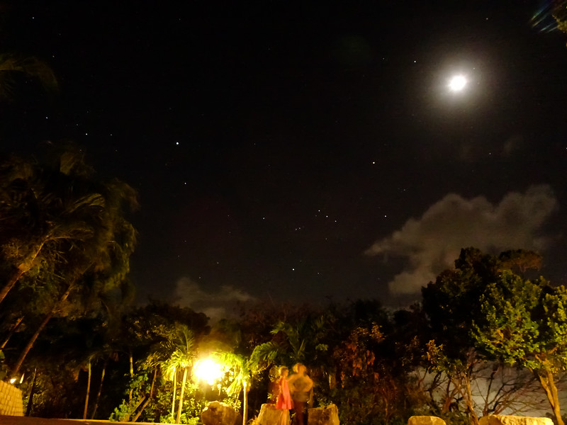 Plenty of stars to see,even with the moon out.