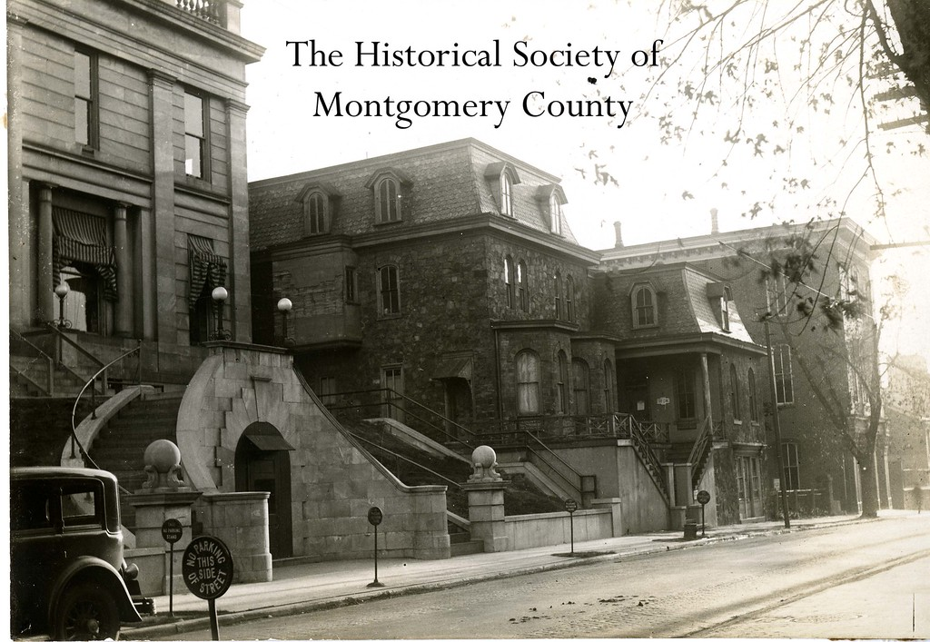 . This undated photo from the Historical Society of Montgomery County shows stately homes on Penn Street in Norristown. These homes were demolished for the courthouse annex.