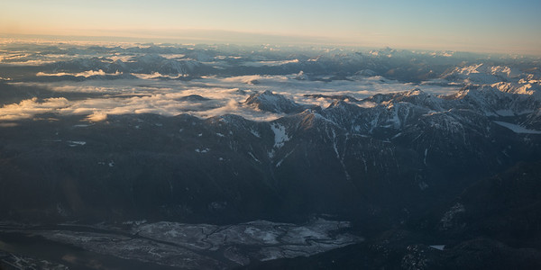 Flying into Vancouver