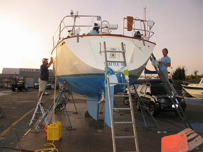 Canal Boat Yard - yard work