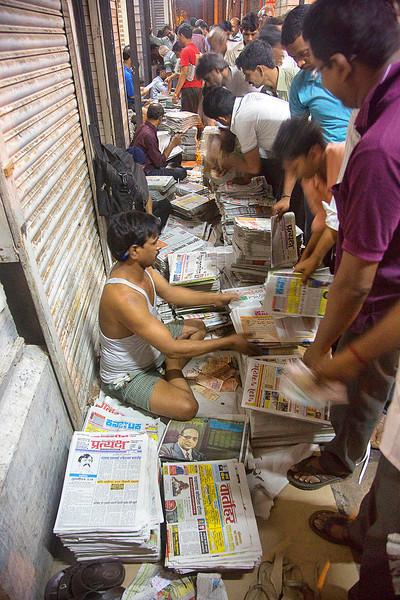Preparing morning papers