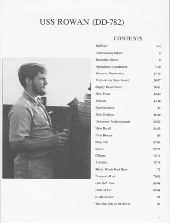 USS Rowan Cruise Book 74-75