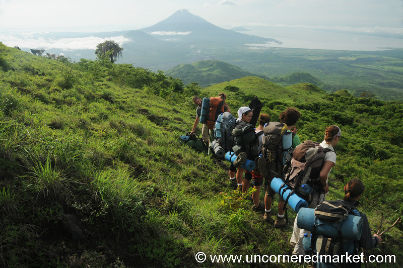 Hikers Take A Break - El Hoyo Volcano, Nicaragua