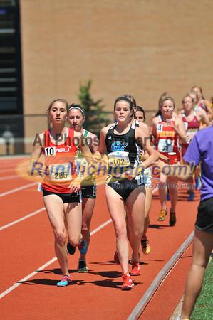 Women's 5000, Heat 2 - 2013 GLIAC Outdoor Track and Field Championships