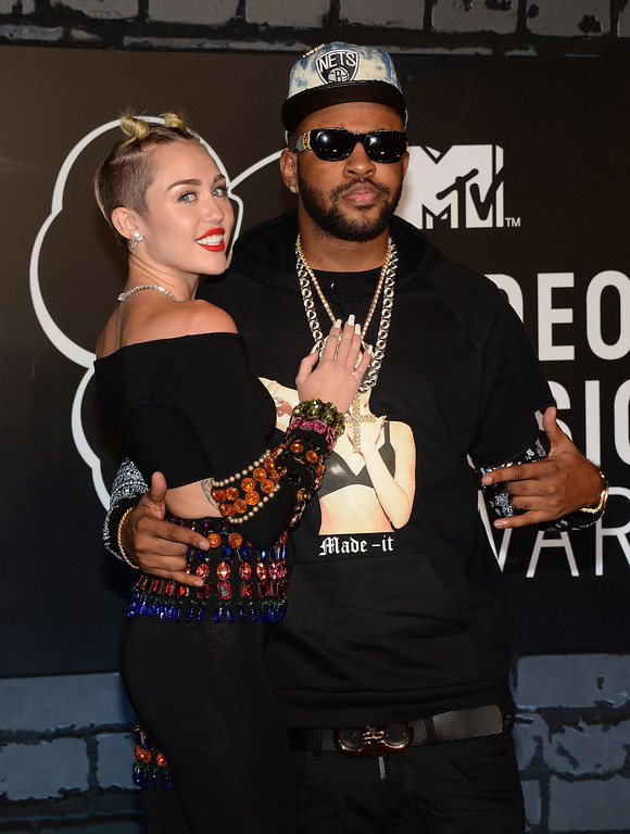 . Miley Cyrus and Mike WiLL Made attend the 2013 MTV Video Music Awards at the Barclays Center on August 25, 2013 in the Brooklyn borough of New York City.  (Photo by Jamie McCarthy/Getty Images for MTV)