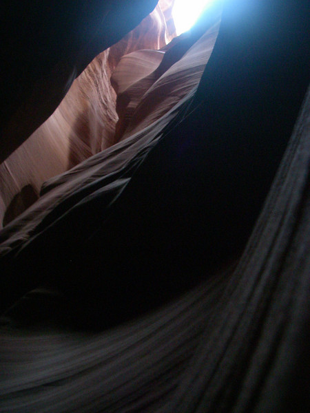 """Upper Antelope Canyon, called Tse bighanilini, """"the place where water runs through rocks"""" by the Navajo, is located at 36°51′28″N, 111°22′20″W"""