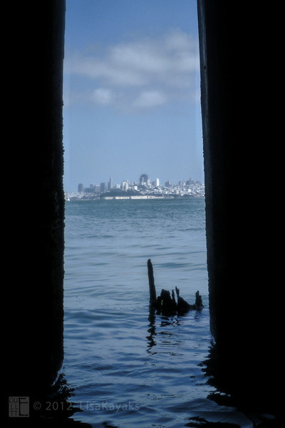 City view from under the fishing pier.