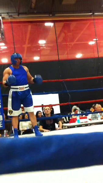 National Latino Peace Officers Association (NLPOA) Scholarship Fundraising Boxing match with Elgin Police Officer Eric Echevaria vs. Woodstock Police Officer Dan Henry at East Aurora High School in Aurora, Ill 11-16-14