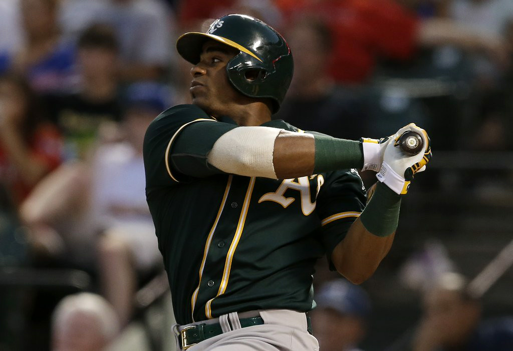 ". 5. YOENIS CESPEDES <p>We�re guessing there�s something Billy Beane knows that the Red Sox don�t know. (unranked) </p><p><b><a href=""http://www.twincities.com/sports/ci_26250455/ap-source-acquire-lester-gomes-cespedes\"" target=\""_blank\""> LINK </a></b> </p><p>   (AP Photo/Tony Gutierrez)</p>"