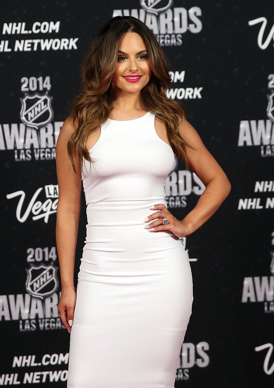 . Singer Pia Toscano arrives on the red carpet prior to the 2014 NHL Awards at Encore Las Vegas on June 24, 2014 in Las Vegas, Nevada.  (Photo by Bruce Bennett/Getty Images)