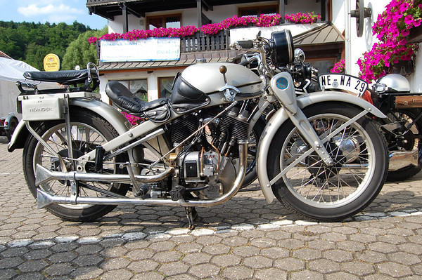 Bad Münstereifel 10, Germany. Prewar Motorcycle Rally 2010