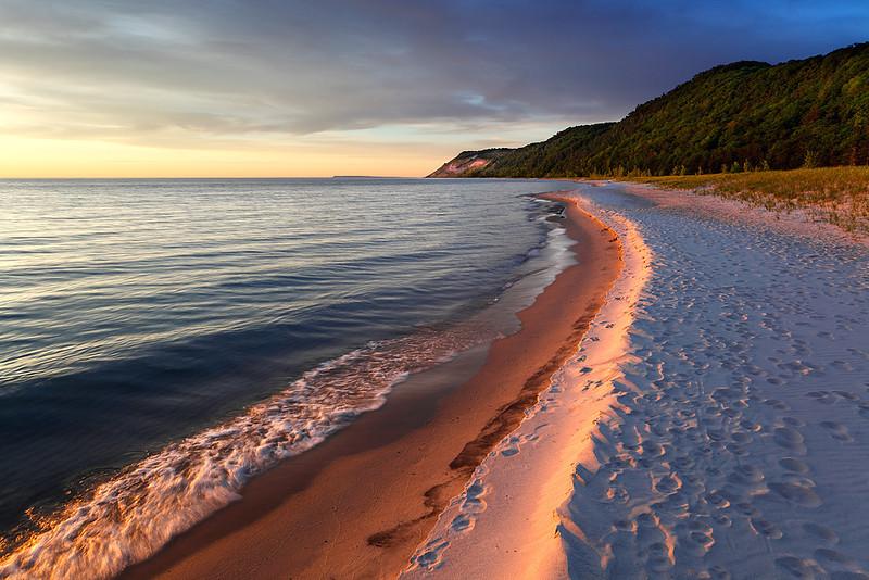 Esch Road Beach Footprints (Sleeping Bear Dunes National Lakeshore - Michigan)
