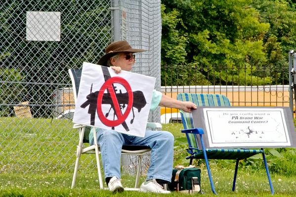 Horsham Drone Protest 7-26-2014