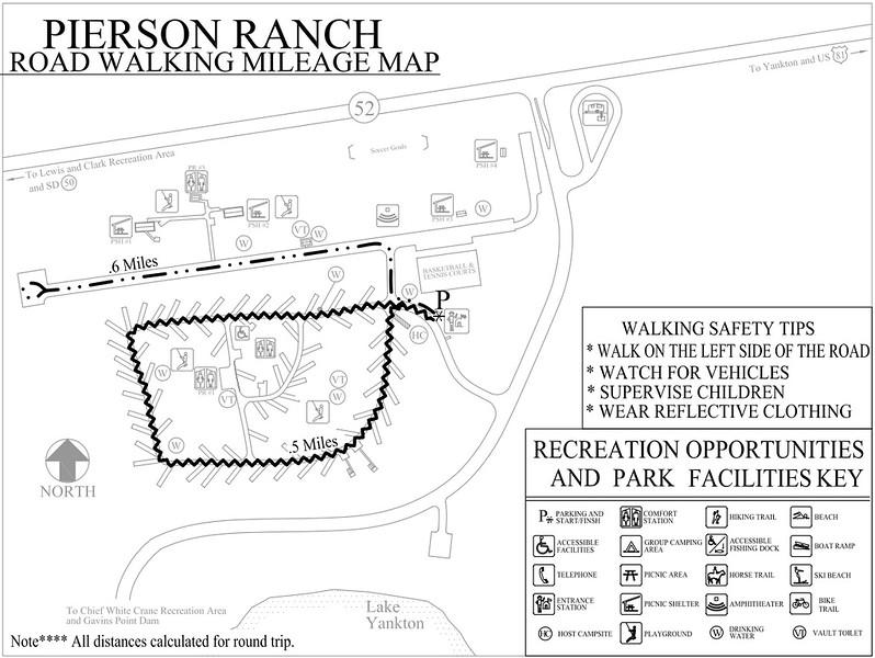 Pierson Ranch Recreation Area (Road Walking Map)