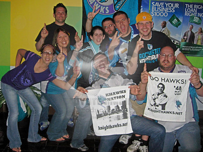 5/11/2013 - Rochester Knighthawks NLL Champions Cup watch party at The Stock, Rochester, NY