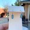 4.20ctw Blue Zircon Dangle Earrings 0