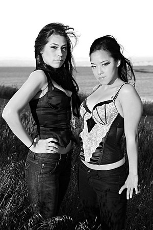 2009-04-11 Out of Grass Shoot (Laura and Tiffany)