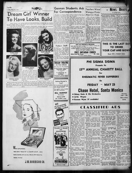 Daily Trojan, Vol. 38, No. 141, May 23, 1947
